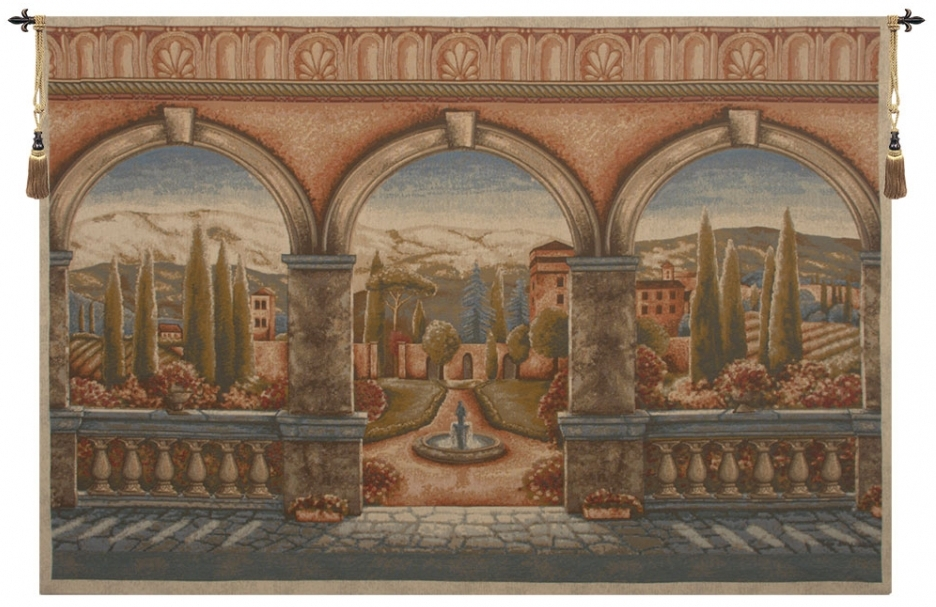 Tuscan Arches Belgian Wall Tapestry