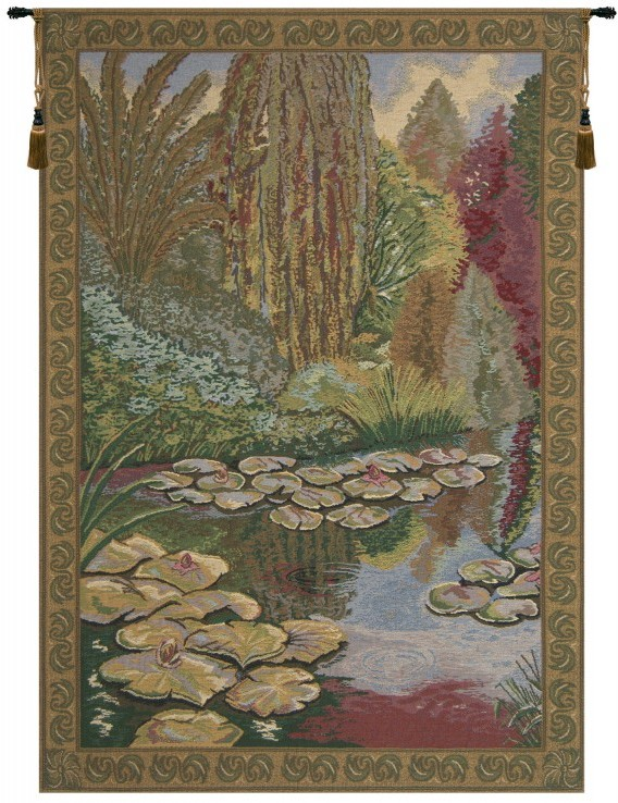 Monet/'s Ville de Vertheuil Belgian Tapestry