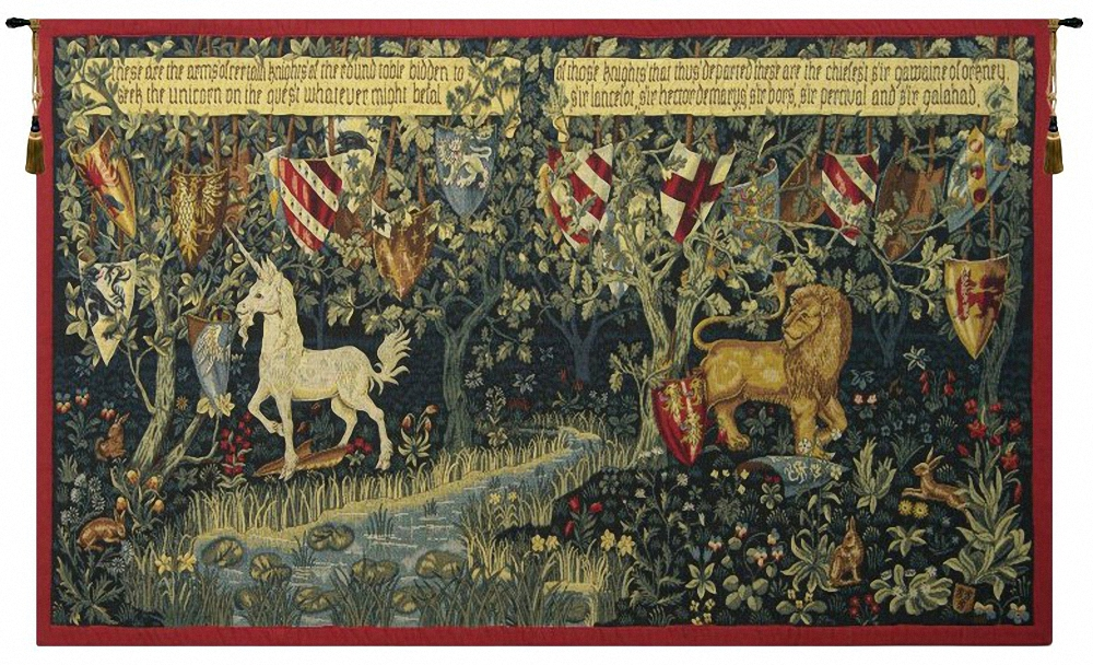 Les Chevaliers De La Table Ronde French Wall Tapestry