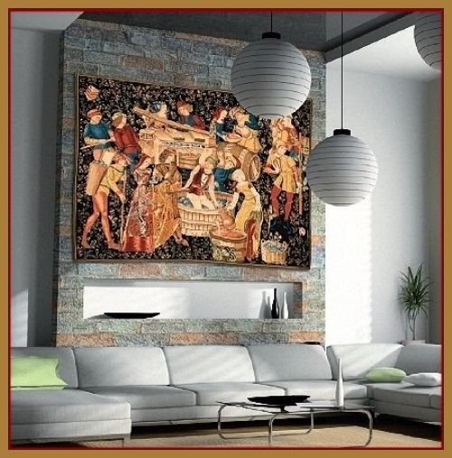 Vendanges Wall Tapestries